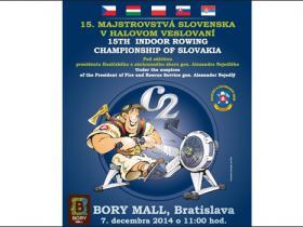15. Majstrovstvá Slovenska v halovom veslovaní - VÝSLEDKY